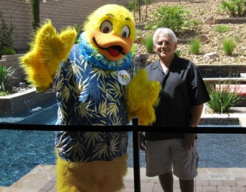 Duckie with Kidde Hero of the Week Joseph M Vassallo, CBP, APSP Fellow