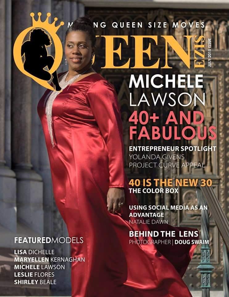 Michele Lawson QueenSize Magazine Cover