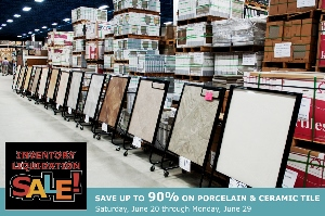 Summer 2015 Inventory Liquidation Sale at TIle Outlets of America