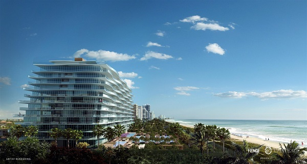 The Fendi Chateau Residences in Surfside