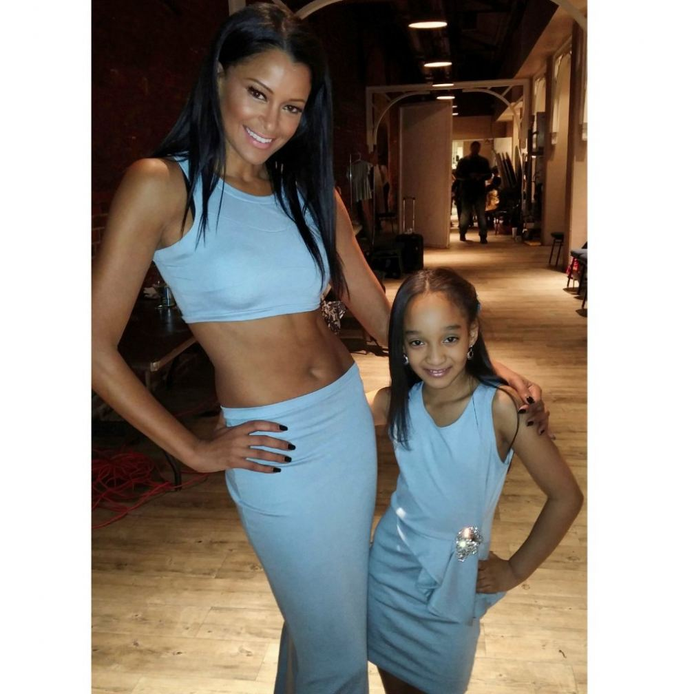 aja wooldridge and claudia jordan at the Reco Chappelle Fashion Show