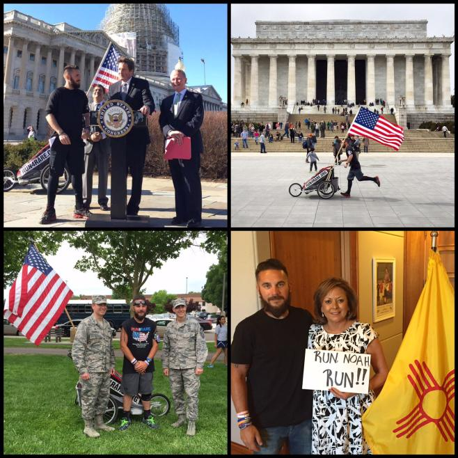 Coughlan runs across America meeting U.S. Lawmakers and Military Officials