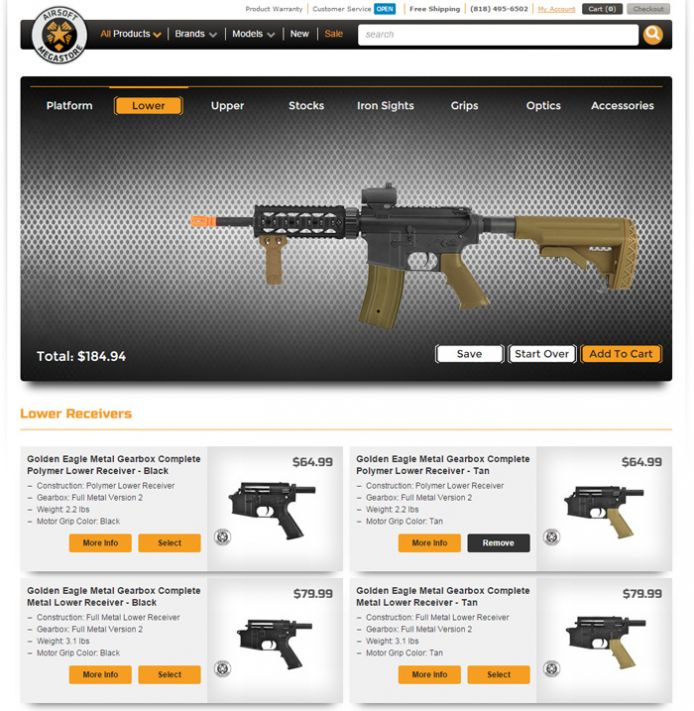 airsoft megastore launches first airsoft industry custom gun builder