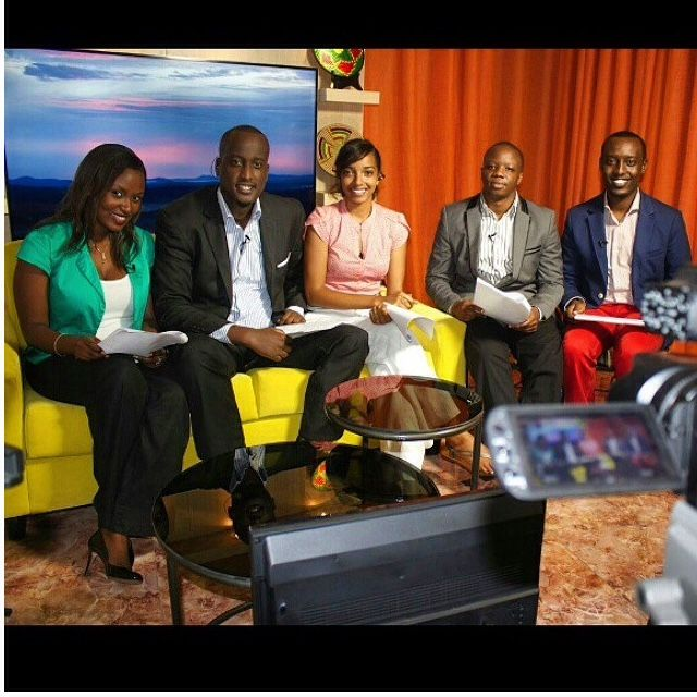 Dianne Dusaidi pictured here with her Rise and Shine Rwanda cast