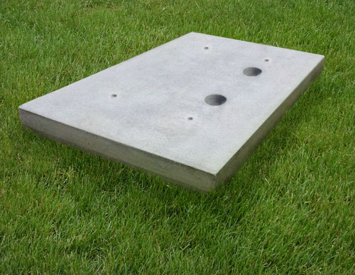 New super lightweight cellular concrete equipment pads for Air conditioner pad concrete