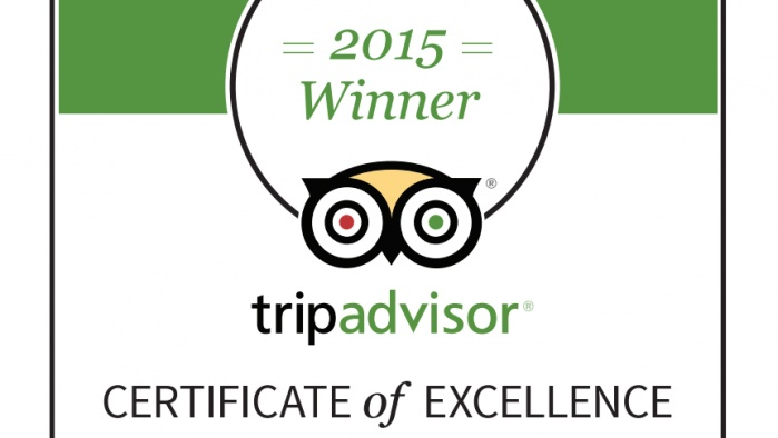 Butterfly on Morrison 4th TripAdvisor Certificate of Excellence in 2015