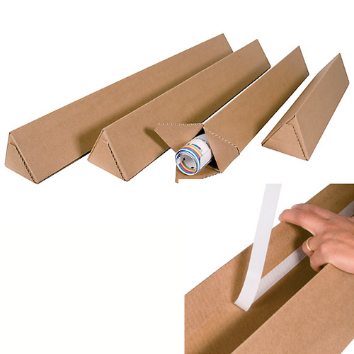 how to open cardboard shipping tube