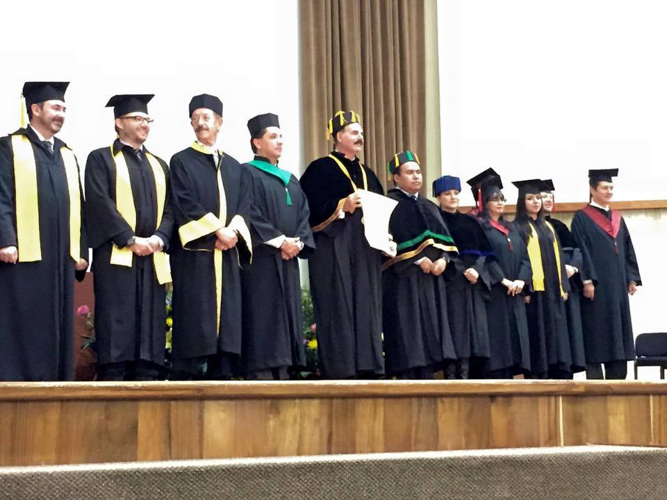 Dr. David Jaimovich at Honorary Doctorate ceremony UNAM