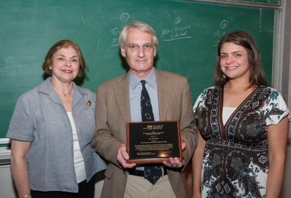 Jayne Daniel, Dr. Ales Obrez, and Lauren Daniel.