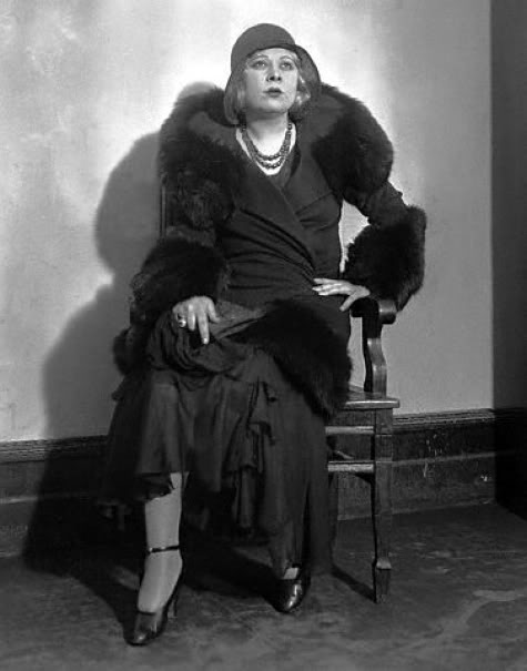 "Mae West at her ""Pleasure Man"" trial in NYC, 1930"