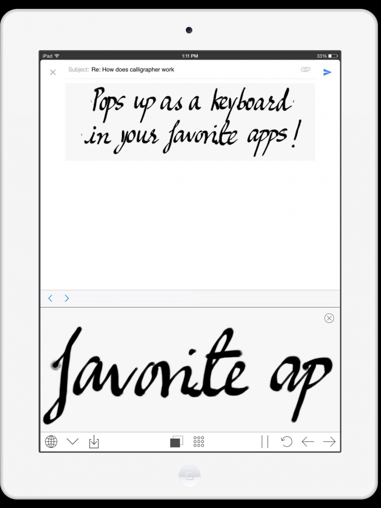 handwriting keyboard on ipad. Black Bedroom Furniture Sets. Home Design Ideas