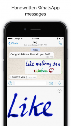 iphone keyboard enables handwritten messages in whatsapp other popular apps gee whiz stuff. Black Bedroom Furniture Sets. Home Design Ideas