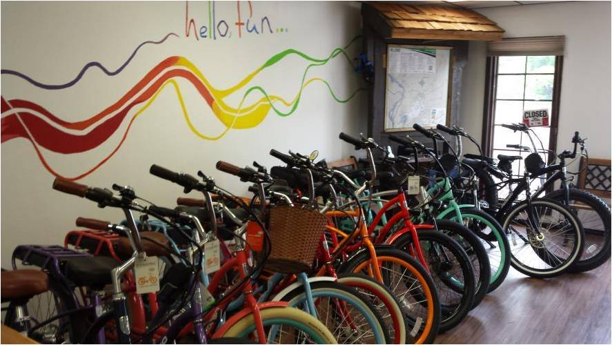 Pedego Edwardsville offers a colorful selection of Pedego electric bikes.
