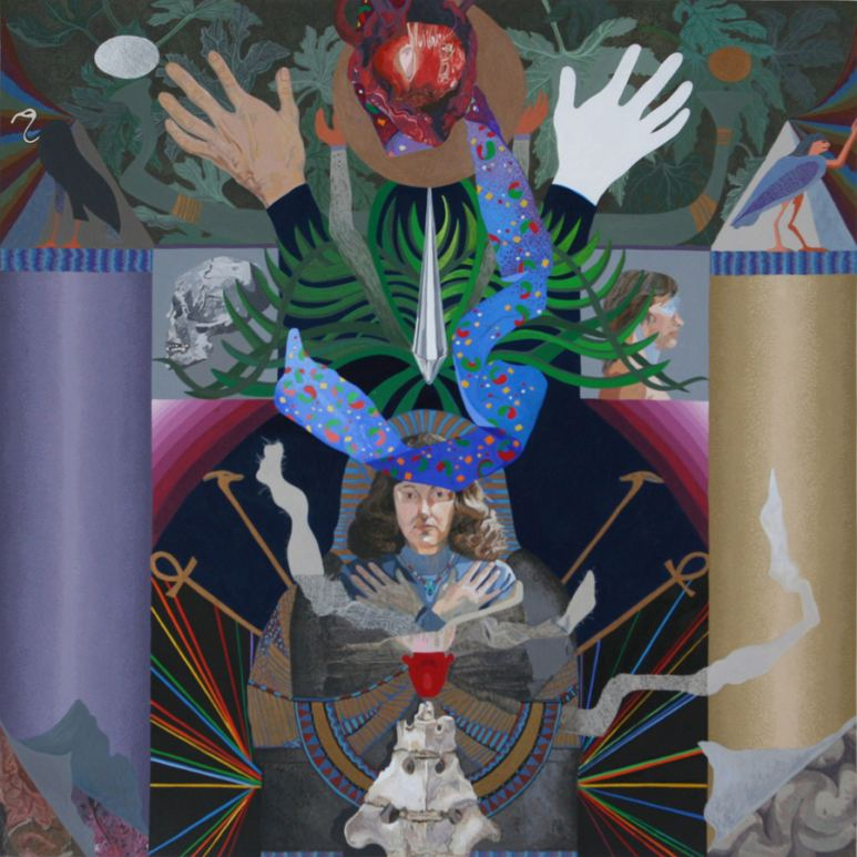Ann Isolde, Rebirth (The Headband Series), Santa Monica, CA, Acrylic
