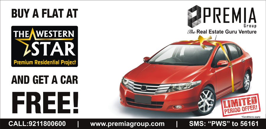 Buy a Flat at Premia Western Star & Get A Car Free !!!