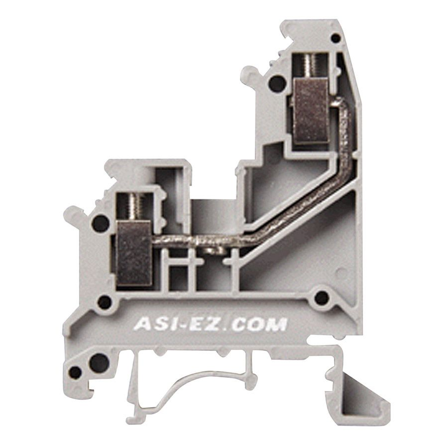 asi single sided wiring din rail terminal blocks have back. Black Bedroom Furniture Sets. Home Design Ideas