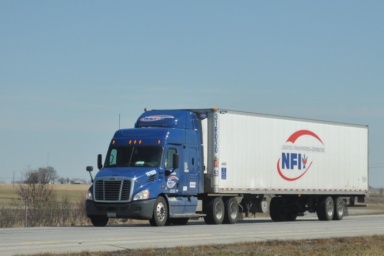 NFI truck on the road