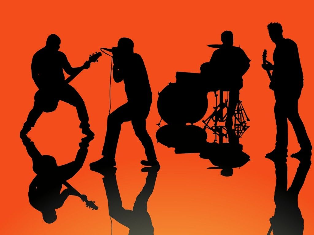 Band Silhouette - WeSharePics Rock Band Silhouette