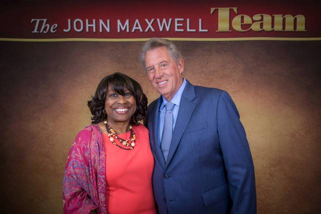 Anna D. Banks with John C. Maxwell at the August 2015 Live Certification Event