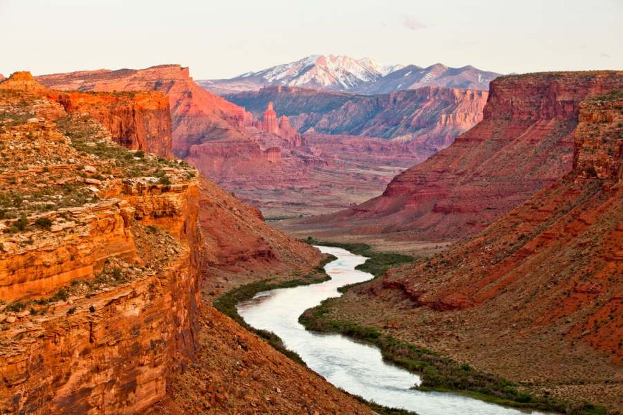 Colo River flowing into Moab