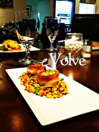 Dinner is served @ eVolve in Seabrook TX