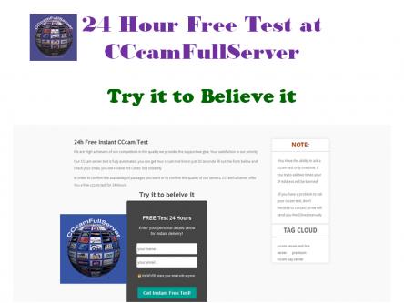 CCcam Server Test - 24 Hour