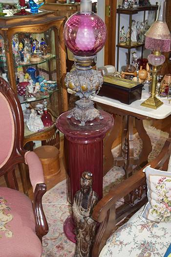 Banquet lamps were just one of the things Mary Haugk collected over 85 years.