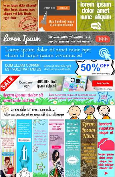 Over 300 Banner Templates - 100% Editable
