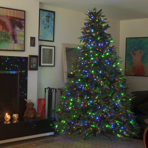 dual color pre lit led christmas trees