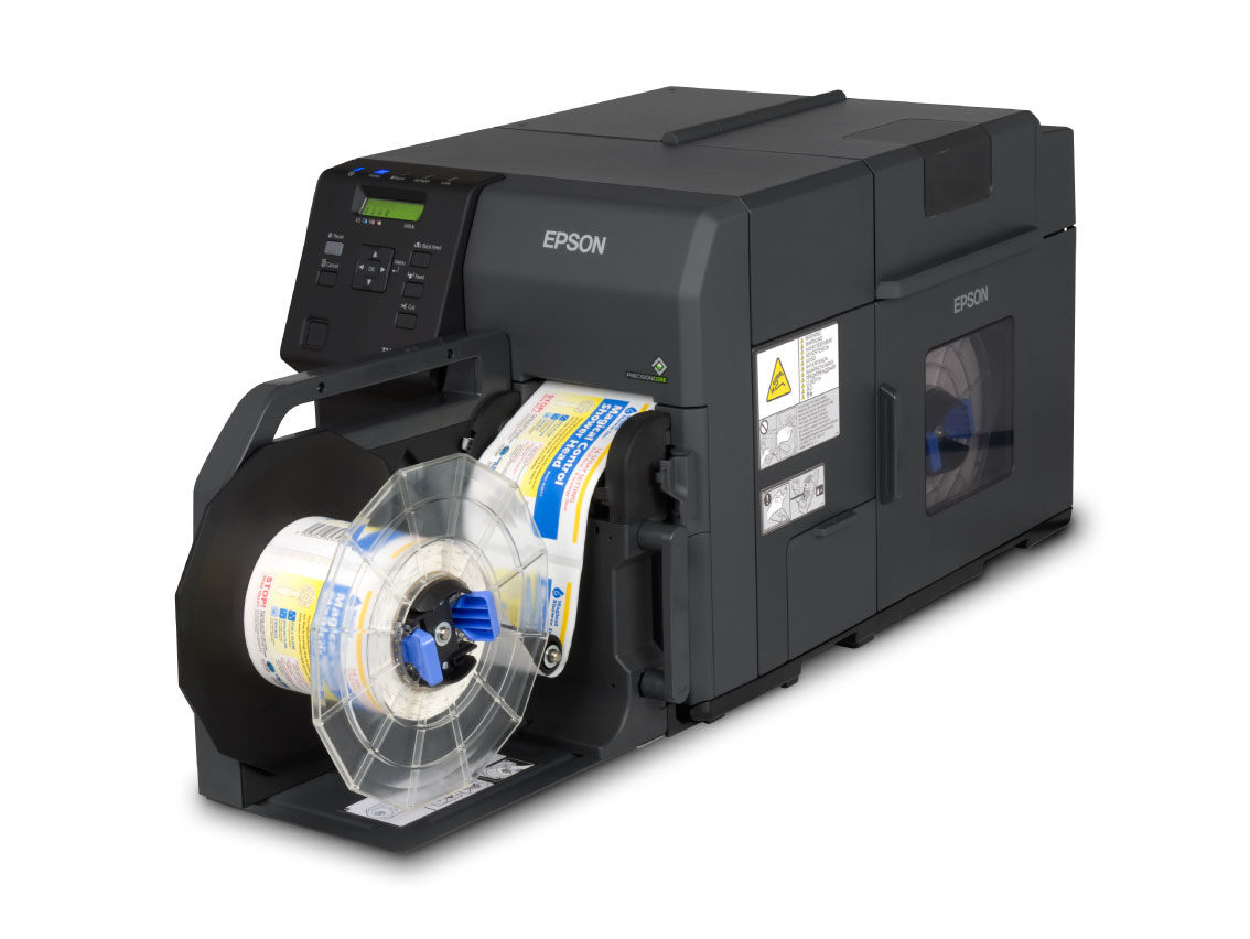 Epson TM-C7500G Color Label Printer with rewinder