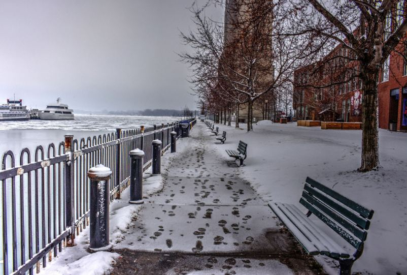 Winter Morning on Toronto Waterfront, Bathurst Quay by Nicky Jameson