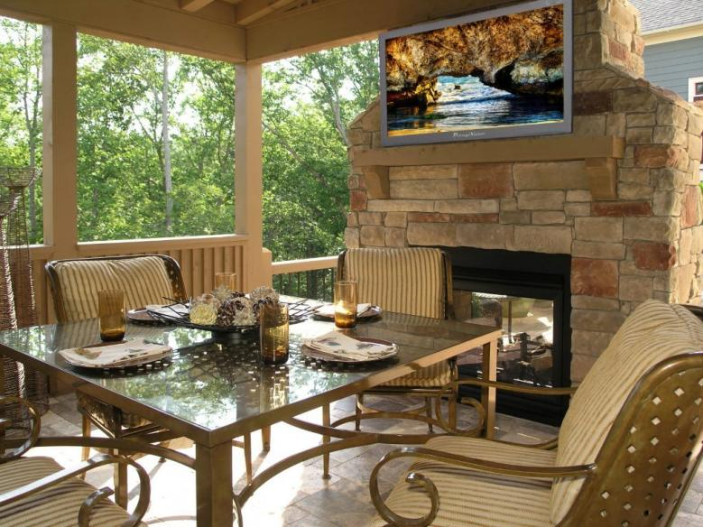 Outdoor tv industry needs to keep pace with the technology - Outdoor fireplace with tv ...