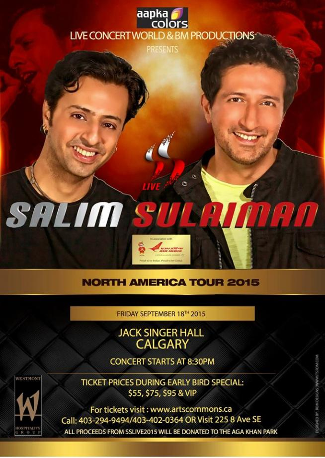 Salim Sulaiman Bollywood Charity Concert Surani Entertainment Prlog