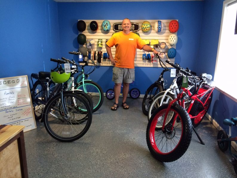 Pedego Tennessee Valley owner Travis Mull and his amazing electric bikes.
