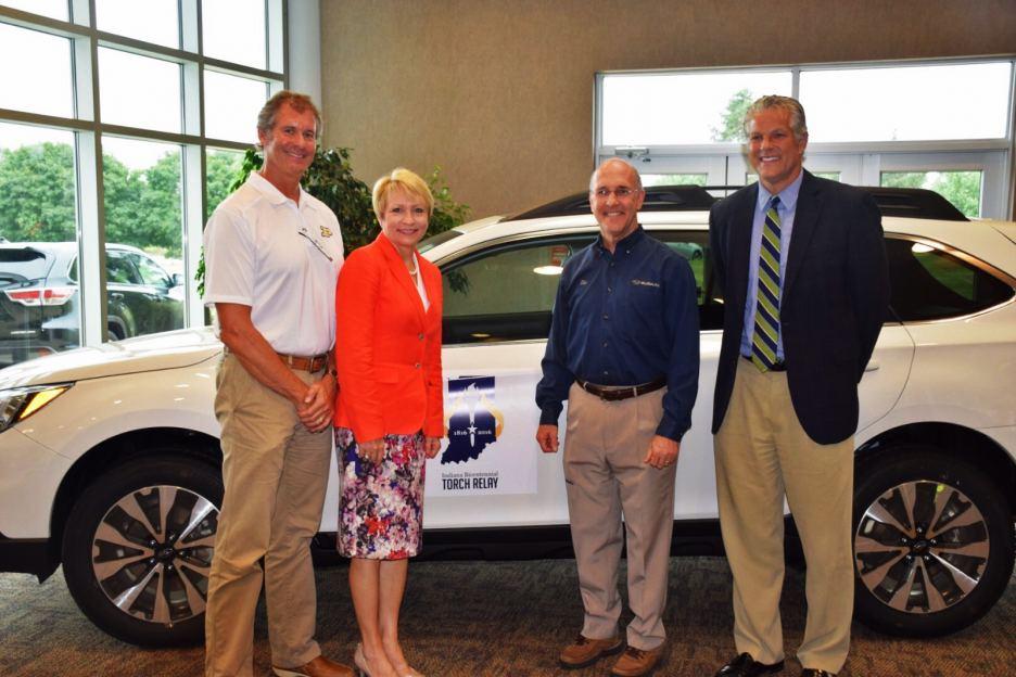 Myr. John Dennis & Lt. Governor Sue Ellspermann with Tom Easterday & Mark Newman