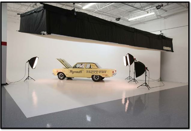 DG Studios is perfect for any type of automotive photo shoot.