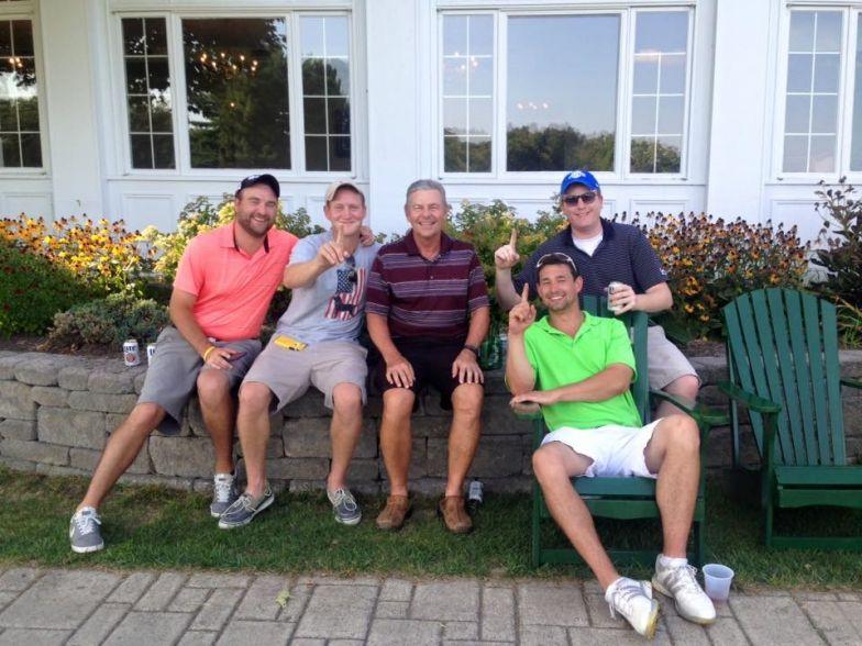 Lonnie Palmer (center), winner of 2015 Country Club of Troy Club Championship