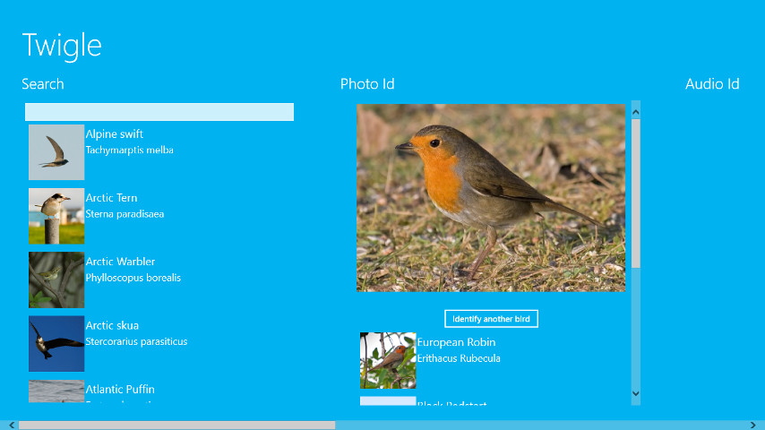 birdsong app windows phone