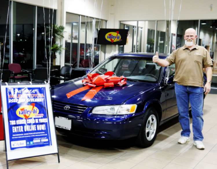 One of 9 previous used car winners.