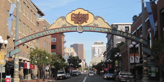 Historic preservation at the Gaslamp Quarter, San Diego