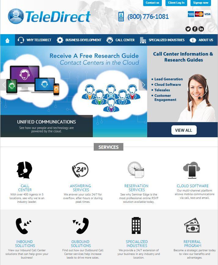 TeleDirect.com Homepage