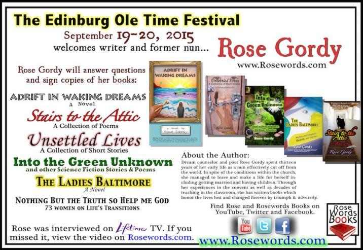 Rose Gordy's Edinburg Ole Time Festival Flyer
