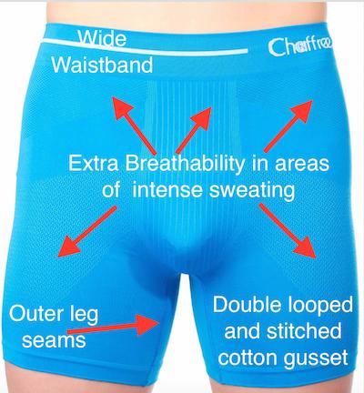 anti chafing mens boxer shorts