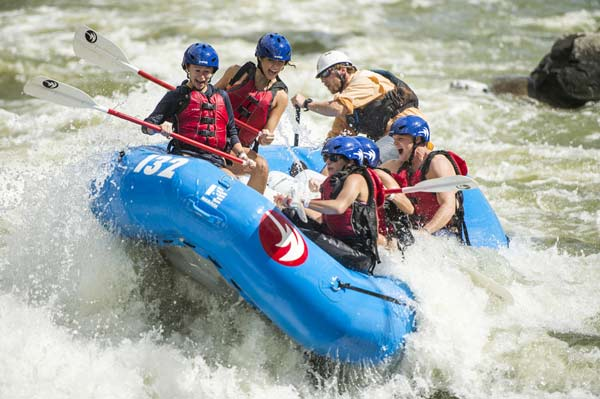 Rafting at the U.S. National Whitewater Center in Charlotte, NC.