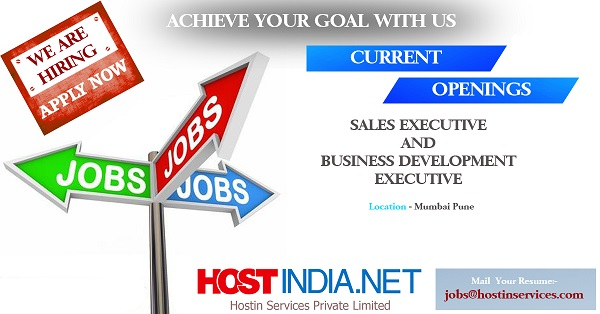 Job Opening In A Web Hosting Company Hostindia Net Hostindia Net
