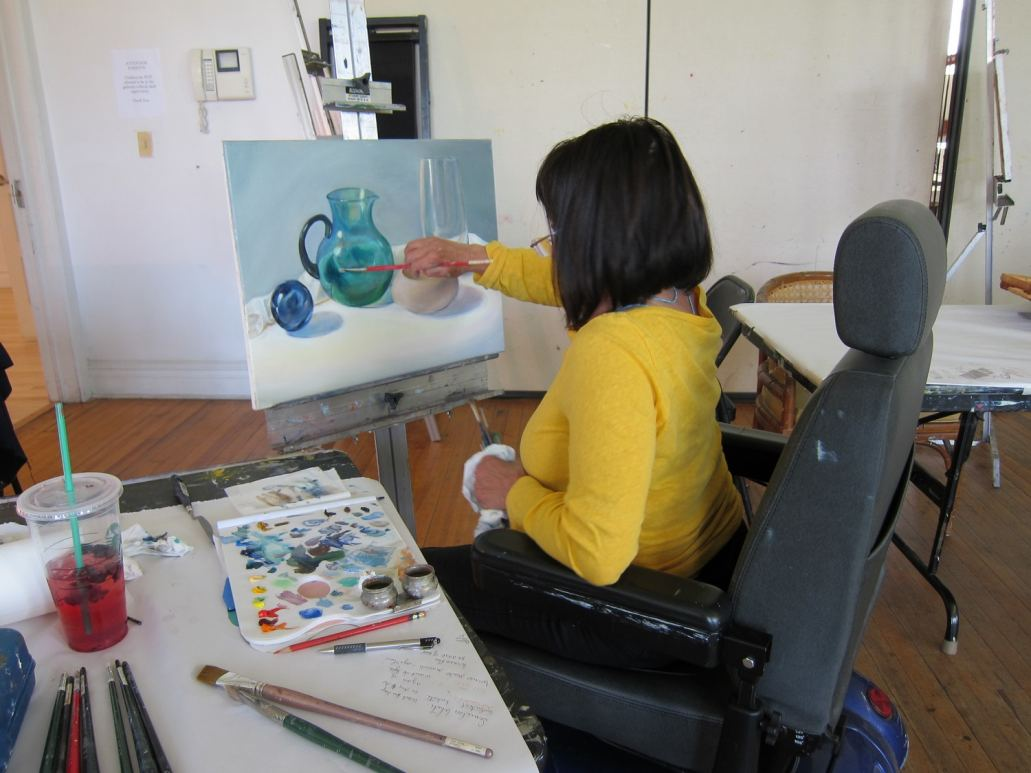 Adult Class with member Dorothy Siclare