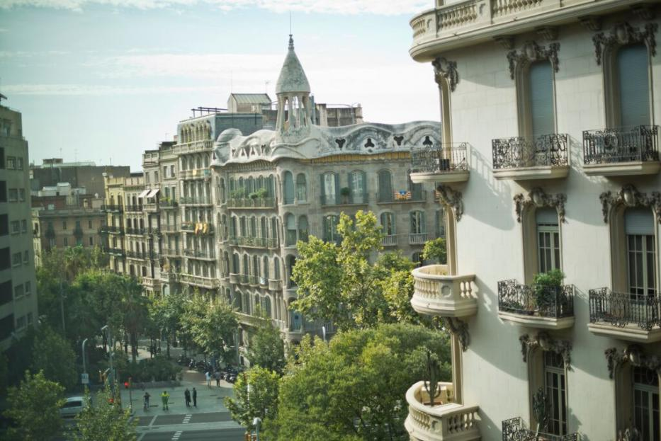 The view from our new office in Barcelona