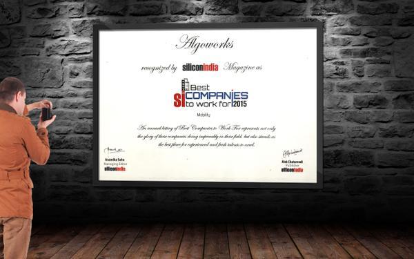 Silicon India Certificate