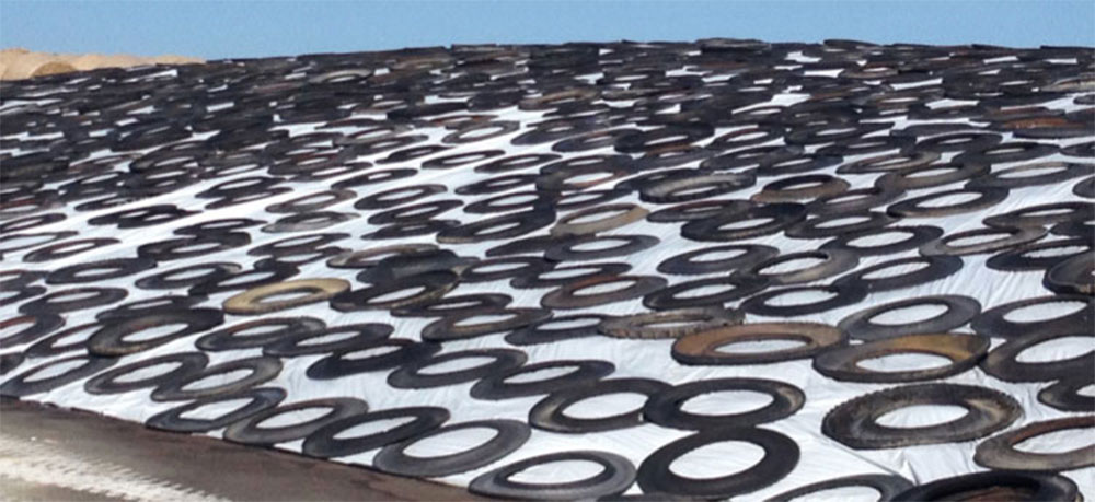 Truck-tire sidewalls for silo bunkers