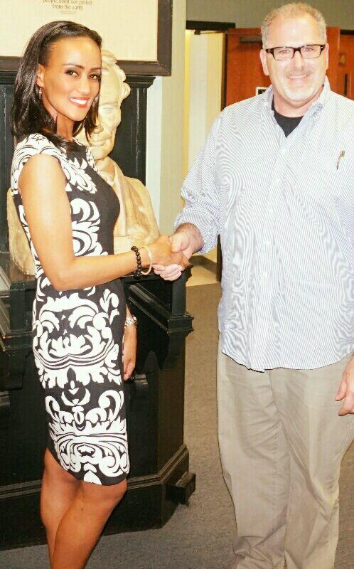 Sophia Bekele with Dean of Faculty